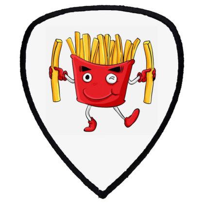 Fried Potatoes, Fast Food Shield S Patch Designed By Coşkun