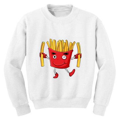 Fried Potatoes, Fast Food Youth Sweatshirt Designed By Coşkun