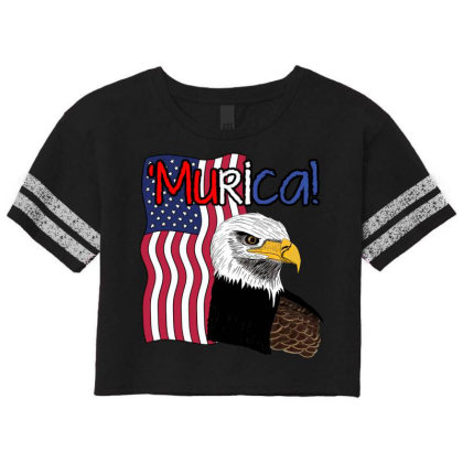 July 4th Independence Patriot Memorial Scorecard Crop Tee Designed By Koopshawneen