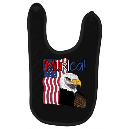 July 4th Independence Patriot Memorial Baby Bibs Designed By Koopshawneen