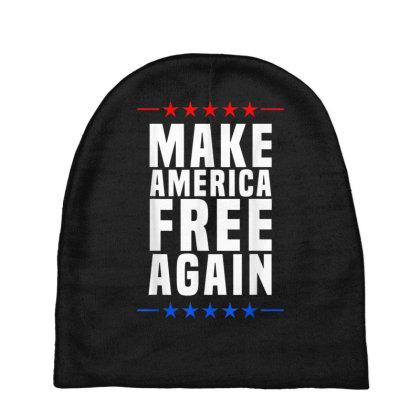 Make America Free Again Baby Beanies Designed By Koopshawneen