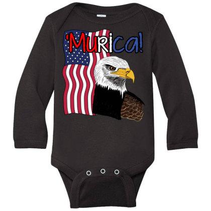 July 4th Independence Patriot Memorial Long Sleeve Baby Bodysuit Designed By Koopshawneen