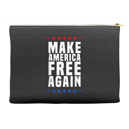 Make America Free Again Accessory Pouches Designed By Koopshawneen