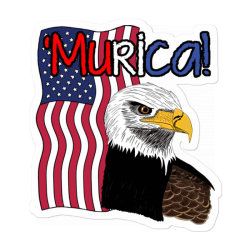 July 4th Independence Patriot Memorial Sticker Designed By Koopshawneen
