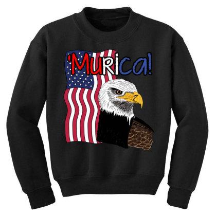 July 4th Independence Patriot Memorial Youth Sweatshirt Designed By Koopshawneen