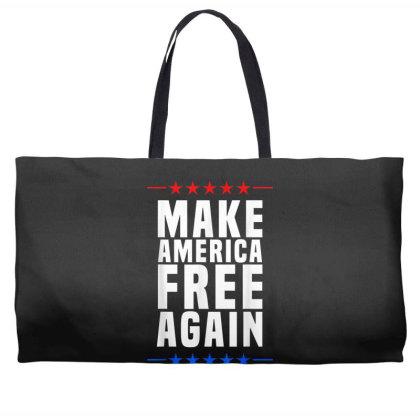 Make America Free Again Weekender Totes Designed By Koopshawneen