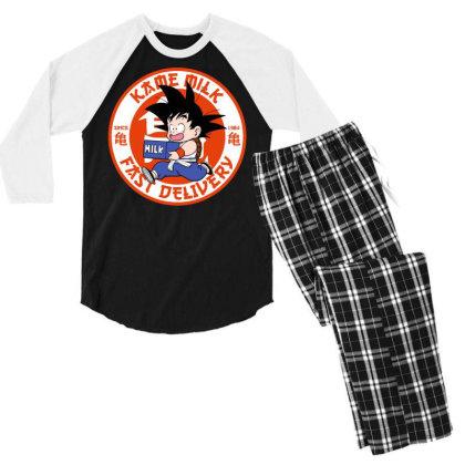 Kame Milk Men's 3/4 Sleeve Pajama Set Designed By Koopshawneen