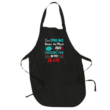 I'm Smiling Under The Mask And Hugging You In My Heart 2 Full-length Apron Designed By Koopshawneen