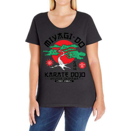 Miyagi Do Karate Dojo Ladies Curvy T-shirt Designed By Koopshawneen