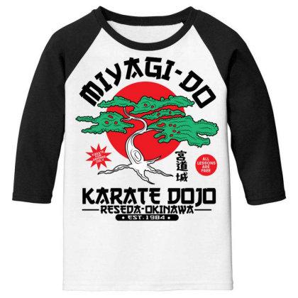 Miyagi Do Karate Dojo Youth 3/4 Sleeve Designed By Koopshawneen
