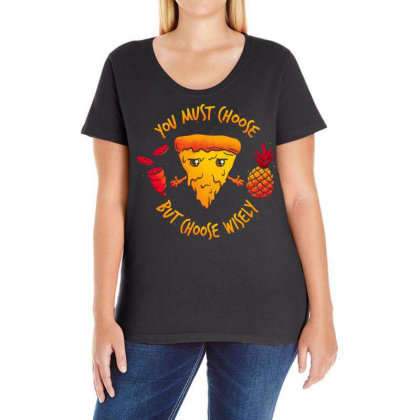 Pizza Knight Ladies Curvy T-shirt Designed By Koopshawneen