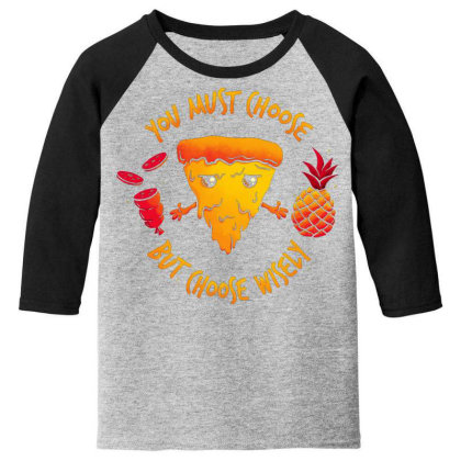 Pizza Knight Youth 3/4 Sleeve Designed By Koopshawneen