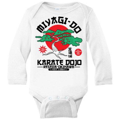 Miyagi Do Karate Dojo Long Sleeve Baby Bodysuit Designed By Koopshawneen
