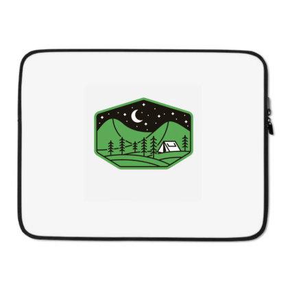 Green Camp Laptop Sleeve Designed By Gudalbosok