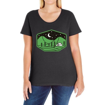 Green Camp Ladies Curvy T-shirt Designed By Gudalbosok
