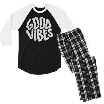 Good Vibes Men's 3/4 Sleeve Pajama Set Designed By Gudalbosok