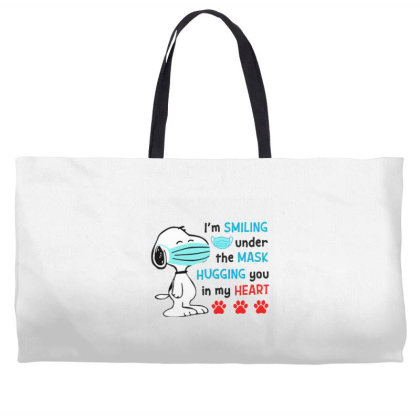 I'm Smiling Under The Mask And Hugging You In My Heart Weekender Totes Designed By Koopshawneen
