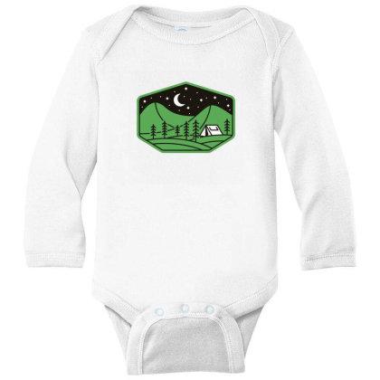 Green Camp Long Sleeve Baby Bodysuit Designed By Gudalbosok