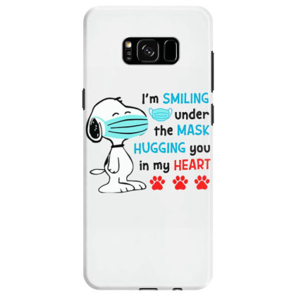 I'm Smiling Under The Mask And Hugging You In My Heart Samsung Galaxy S8 Case Designed By Koopshawneen