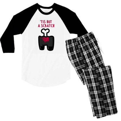 Impostor Scratch Men's 3/4 Sleeve Pajama Set Designed By Gudalbosok