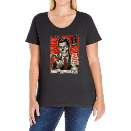 Join The Undead Ladies Curvy T-shirt Designed By Gudalbosok