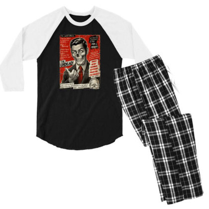 Join The Undead Men's 3/4 Sleeve Pajama Set Designed By Gudalbosok