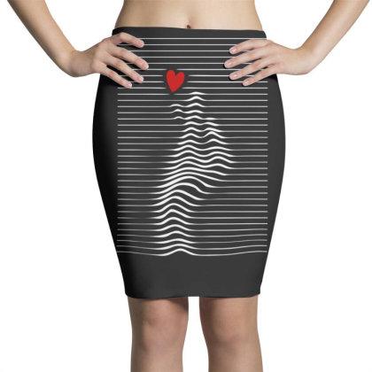 Love Sign Pencil Skirts Designed By Gudalbosok