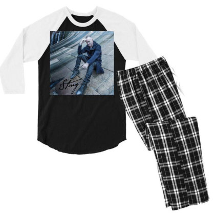 Sting Sticker Men's 3/4 Sleeve Pajama Set Designed By Nugrahadamanik