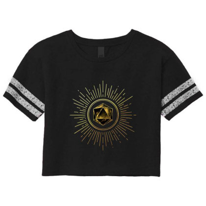 Block Prism Gold Shinny Sticker Scorecard Crop Tee Designed By Nugrahadamanik