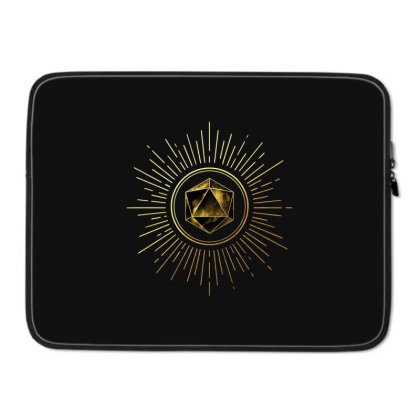 Block Prism Gold Shinny Sticker Laptop Sleeve Designed By Nugrahadamanik