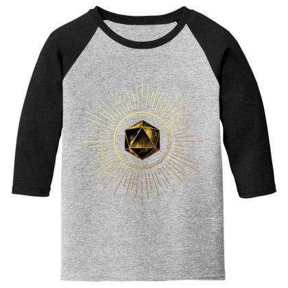 Block Prism Gold Shinny Sticker Youth 3/4 Sleeve Designed By Nugrahadamanik