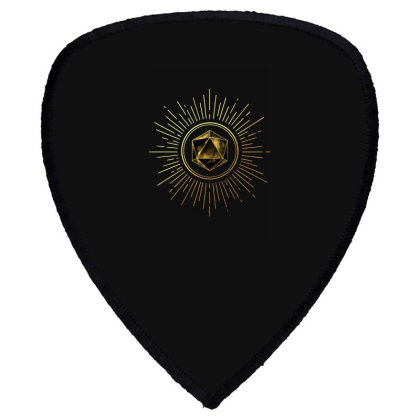 Block Prism Gold Shinny Sticker Shield S Patch Designed By Nugrahadamanik