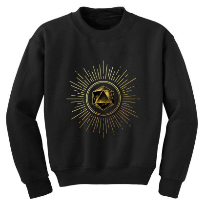 Block Prism Gold Shinny Sticker Youth Sweatshirt Designed By Nugrahadamanik