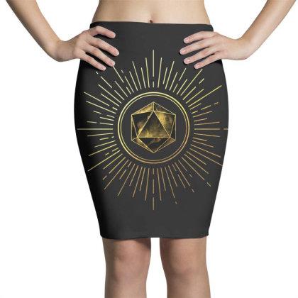 Block Prism Gold Shinny Sticker Pencil Skirts Designed By Nugrahadamanik