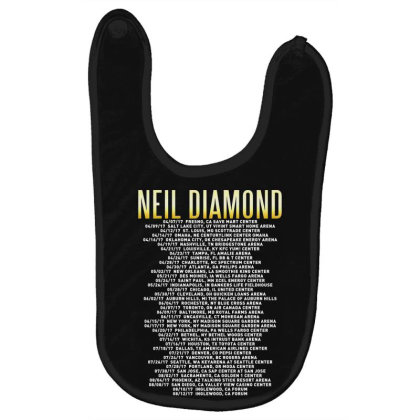 Love This 50 Years Anniversary Dates 2017 Neil Diamond Sticker Baby Bibs Designed By Nugrahadamanik