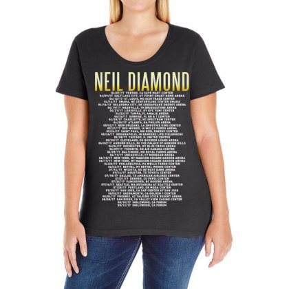 Love This 50 Years Anniversary Dates 2017 Neil Diamond Sticker Ladies Curvy T-shirt Designed By Nugrahadamanik