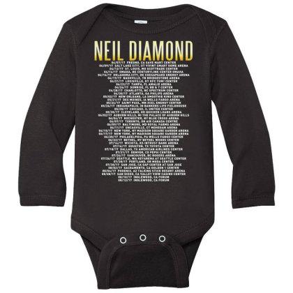 Love This 50 Years Anniversary Dates 2017 Neil Diamond Sticker Long Sleeve Baby Bodysuit Designed By Nugrahadamanik