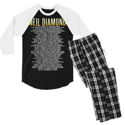 Love This 50 Years Anniversary Dates 2017 Neil Diamond Sticker Men's 3/4 Sleeve Pajama Set Designed By Nugrahadamanik
