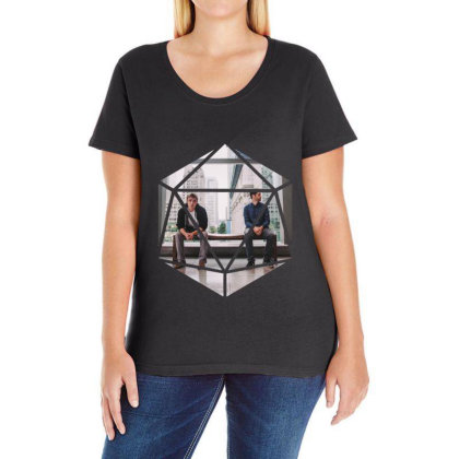 Block Prism Sticker Ladies Curvy T-shirt Designed By Nugrahadamanik