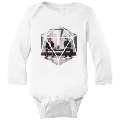 Block Prism Sticker Long Sleeve Baby Bodysuit Designed By Nugrahadamanik