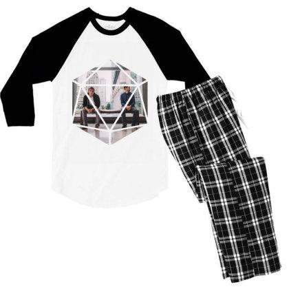 Block Prism Sticker Men's 3/4 Sleeve Pajama Set Designed By Nugrahadamanik