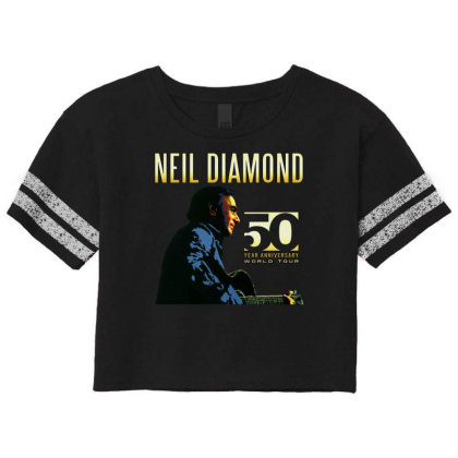 50 Years Anniversary 2017 Neil Diamond Vector Scorecard Crop Tee Designed By Nugrahadamanik