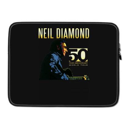 50 Years Anniversary 2017 Neil Diamond Vector Laptop Sleeve Designed By Nugrahadamanik