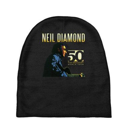 50 Years Anniversary 2017 Neil Diamond Vector Baby Beanies Designed By Nugrahadamanik