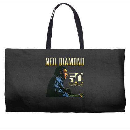 50 Years Anniversary 2017 Neil Diamond Vector Weekender Totes Designed By Nugrahadamanik