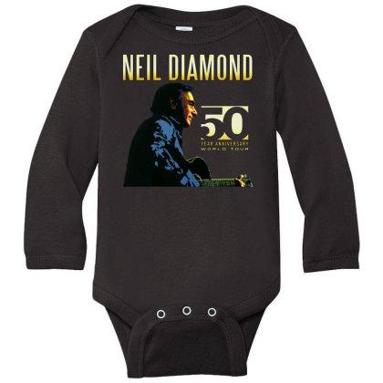 50 Years Anniversary 2017 Neil Diamond Vector Long Sleeve Baby Bodysuit Designed By Nugrahadamanik