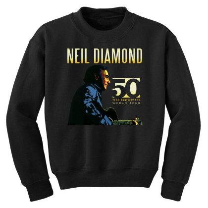 50 Years Anniversary 2017 Neil Diamond Vector Youth Sweatshirt Designed By Nugrahadamanik
