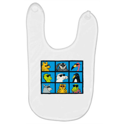 All Glasses Cute Friend Modern Baseball Baby Bibs Designed By Nugrahadamanik