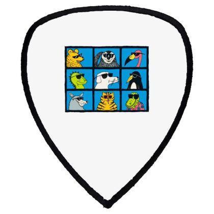 All Glasses Cute Friend Modern Baseball Shield S Patch Designed By Nugrahadamanik
