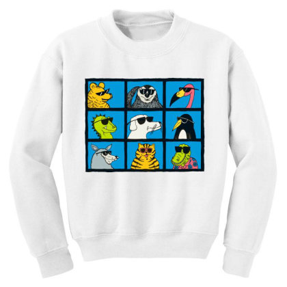 All Glasses Cute Friend Modern Baseball Youth Sweatshirt Designed By Nugrahadamanik